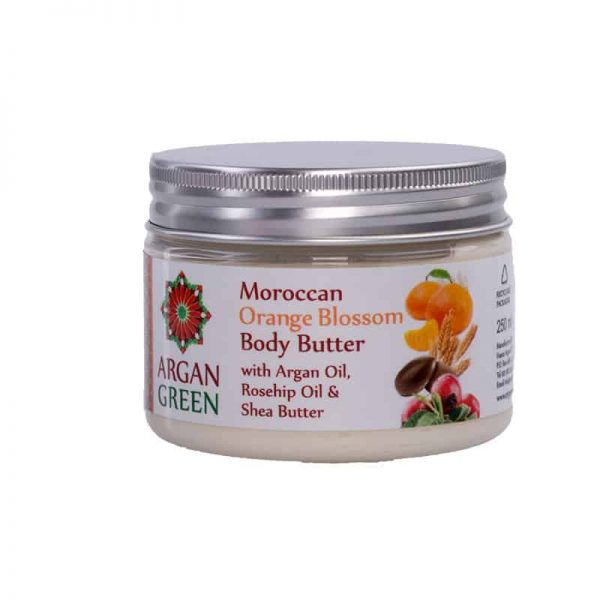 argan green orange blossom body butter