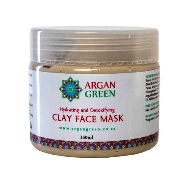 argan green clay face mask