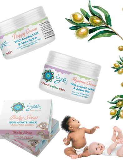 Iya Argan Green Baby Skincare with Pure Argan Oil